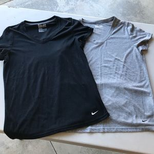 *2* Nike v-neck tees